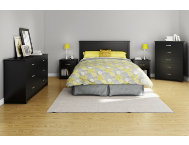 Fusion Black Queen Headboard