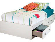 Country Poetry Twin White Bed
