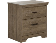 Versa Oak 2-Drawer Nightstand