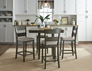 Grey Gathering Table  Stools
