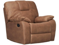 shop Crosby Camel Rocker Recliner