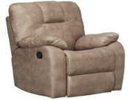 shop Crosby Taupe Rocker Recliner