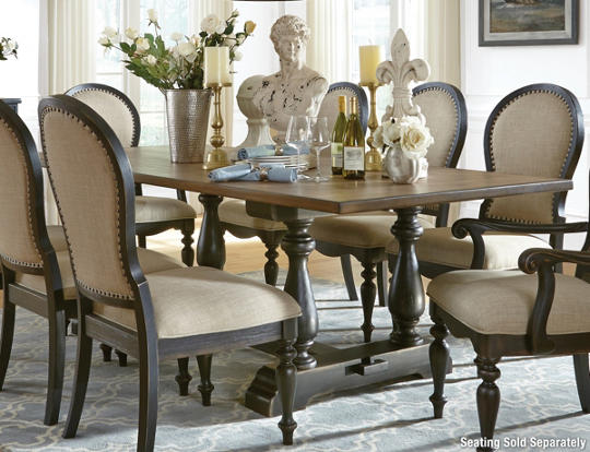 Cambria Trestle Dining Table - Art Van Furniture
