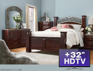 shop 6pc-Queen-Bedroom-Set-with-TV