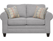 Saxon Grey Loveseat
