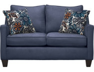 Farrah Navy Loveseat