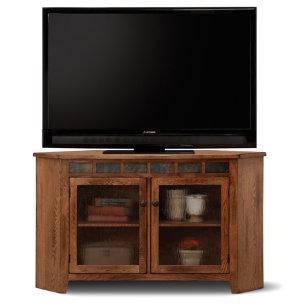 Rustic Corner TV Console