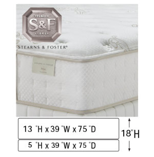 Twin Low Profile Mattress Set