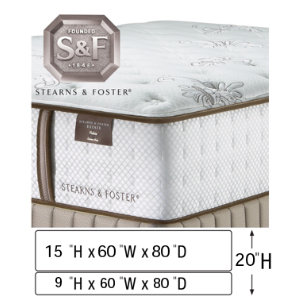 Queen Low Profile Mattress Set