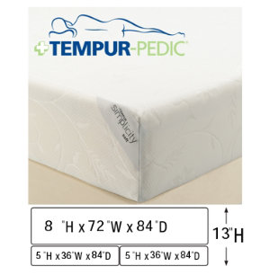 CAK Low Profile Mattress Set with TV