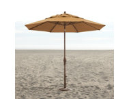 11' Straw Auto Tilt Umbrella