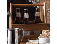 shop Acacia Wood Beer Caddy