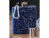 shop Blue Enamel Carabiner Flask