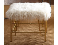 shop BETTE METAL FAUX FUR STOOL