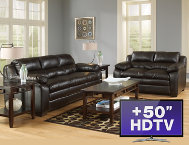 shop 7-Piece-Living-Room---Espresso-with-TV