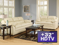 7 Piece Living Room Package with TV