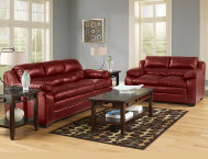 7 Piece Living Room - Red
