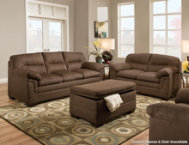 shop Luna Chocolate Sofa & Loveseat