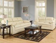 Maddox Sofa & Loveseat Set-Nat