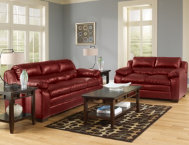 Maddox Sofa & Loveseat Set-Red