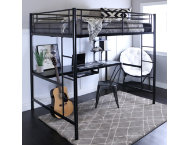 Kylie Black Full Loft Bed