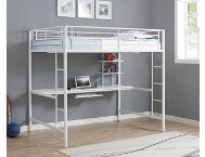 Kylie Full White Loft Bed