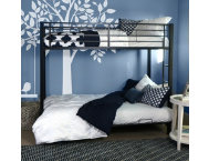 Kylie Twin Futon Black Bunk