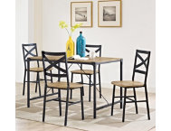 5pc Barnwood Dining Room Set