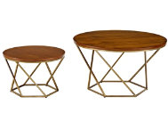 shop Gold-Walnut-Coffee-Tables