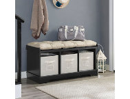 Selena Black Storage Bench
