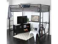 Kylie Black Full Size Loft Bed