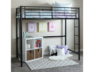 Kylie Black Twin Loft Bed
