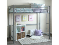 Kylie Silver Twin Loft Bed