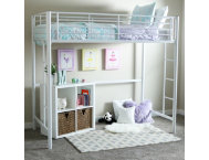 Kylie White Twin Loft Bed