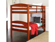 Max Cherry Twin Bunk Bed