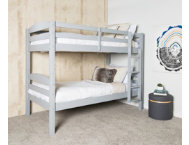 shop Max Grey Twin Bunk Bed