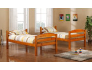 shop Max Honey Twin Bunk Bed