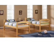 shop Max Natural Twin Bunk Bed