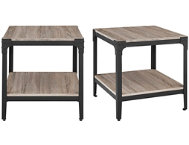 Driftwood End Tables Set of 2