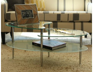Wave Oval Glass Coffee Table