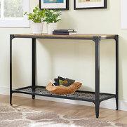 Angles Barnwood Sofa Table