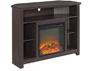 44  Brown Fireplace TV Stand