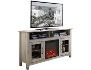 58  Oak Fireplace TV Stand
