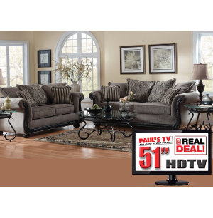 piece living room package with tv fabric furniture sets living