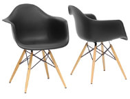 Pascal Black Chair (Set of 2)