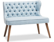 Lille Tufted Blue Loveseat
