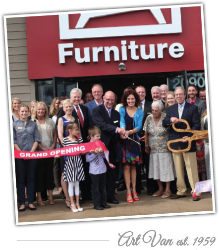 Franchise Grand Opening at Art Van Furniture. Art Van established in 1959