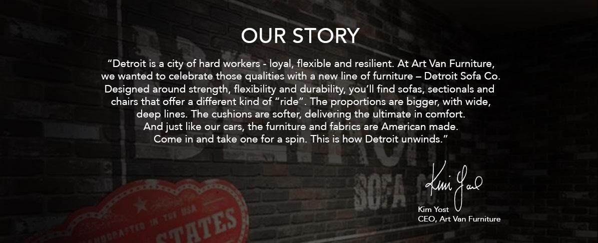 Detroit sofa company art van furniture for Detroit sofa company