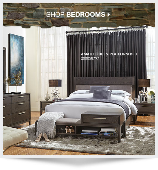 Shop Bedrooms. Amato Queen Platform Bed. Sku: 2000587997