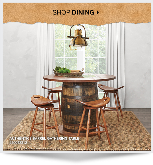 Shop Dining. Authentics Barrel Gathering Table. SKU:250043312